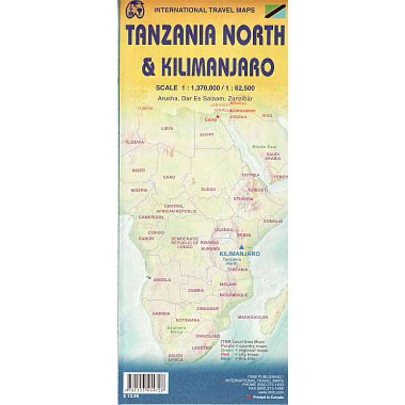 Tanzania North and Kilimanjaro Map