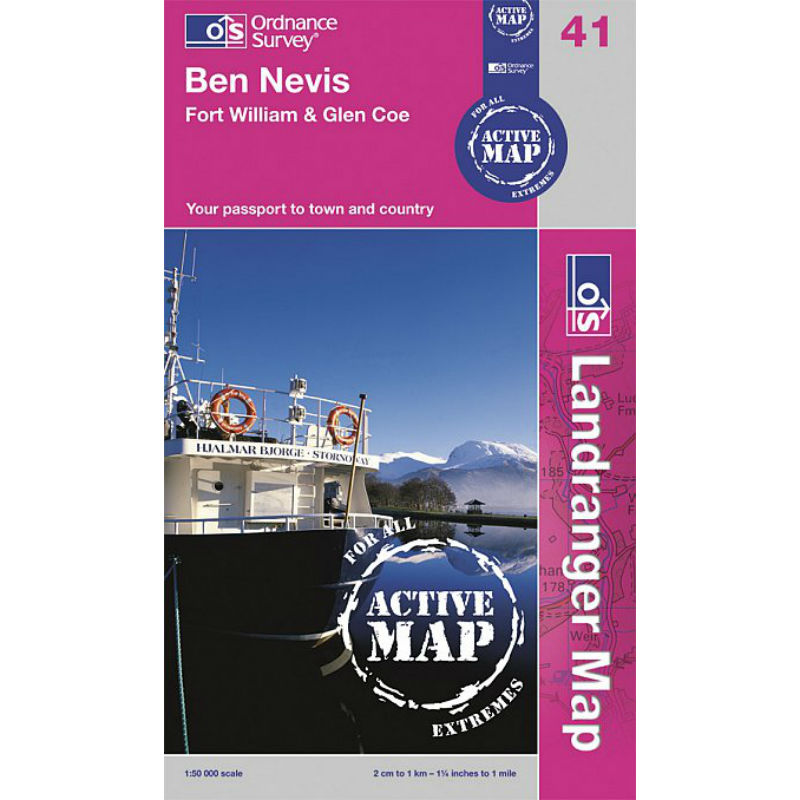 OS - Ben Nevis - Fort William and Glen Coe Map