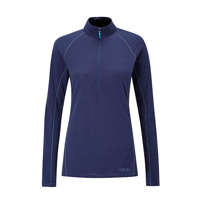 Rab Women's Merino + LS Zip Top